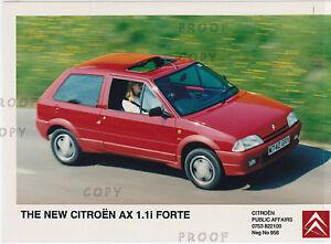 CITROEN AX 1.1i/1.5D VARIOUS PRESS PHOTOS 1993-4   ***POST FREE UK ***