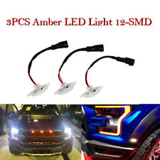 3X Amber LED Car Truck Front Grille Light Kit for 2010-2018 Ford SVT Raptor 12V