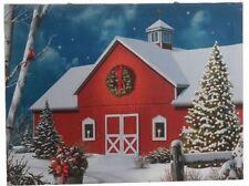 Barn Lighted Picture RAZ Canvas battery power  wd 3111351 NEW RAZ Christmas