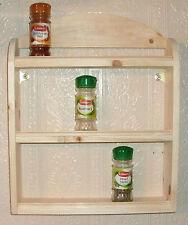 Handmade Spice Jars and Racks