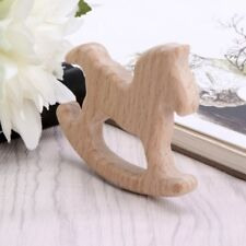 Trojan Horse Shape Pendant Natural Wood DIY Jewelry Findings Baby Teether Shower