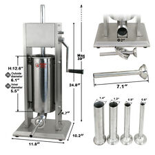 5l Sausage Stuffer Filler Meat Maker Machine Stainless Steel W/ 4 Stuffing Tubes