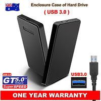 "2.5"" Sata Hard HDD Drive Disk Slim External Enclosure Case Screw Free USB 3.0 AU"