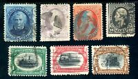 USAstamps Used FVF US Earlier Lot Scott 153, 160, 185, 228, 294, 295, 296