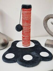 Cat Scratch Play Post Kitten Scratching Pole Stand With Toy Ball Mouse UK Paw
