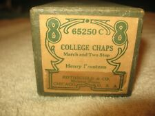 Vintage 88 Note Player Piano Roll 88 US 65250C College Chaps Henry Frantzen Nice