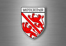 Sticker decal souvenir car coat of arms shield city flag switzerland winterthur