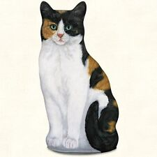 Calico Cat Shaped Soft Sculpture Doorstop or Pillow