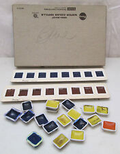 Vintage Prang Paint Tin 34 Refills Misc. Watercolor Dixon American Crayon Co.