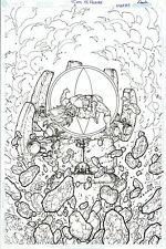 THUNDERCATS HAMMERHAND REVENGE #4 ORIGINAL COMIC COVER ART PAGE LION-O DC COMICS
