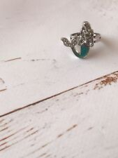 Mood Stone Little Mermaid Silver Tone Ring Adjustable Fits Size Up To Q