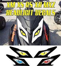 SKI DOO  XS XM XR RS MX Z TNT SUMMIT GSX RENEGADE HEADLIGHT DECAL STICKER MXZ 3