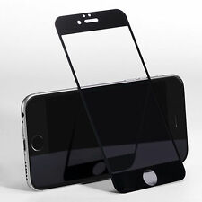 Black Tempered Glass Full Cover Screen Protector For iPhone 6 Plus /6S Plus #M4