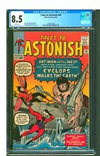 TALES TO ASTONISH #46  CGC 8.5 VF+  BRIGHT WHITE PAGES!  COOL KIRBY COVER! SHARP