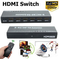 1080p 5 Port 4K HDMI Switch Switcher Selector intelligent Hub IR Remote For  -