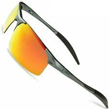 LANON Herren Polarisierte Sonnenbrille Metall rahme Ultra Sport Stil Glasses