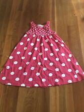 H&M Girls Summer Dress Pink Polka Dot Size 6/8