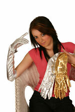 LONG GOLD GLOVES 58cm METALLIC SEXY & UNUSUAL - MED