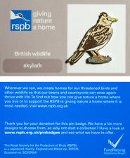 RSPB Pin Badge   Skylark   GNaH [01269]
