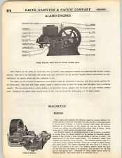 1923 PAPER AD Alamo Gas Gasoline Hit & Miss Engine Diagram Parts Webster Magneto