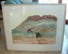 """ORIGINAL WATERCOLOUR PAINTING BY ROBYNE PALMER """"CROW"""""""