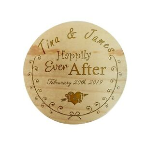 Custom Personalize Ring Box Engraved Wedding Proposal Engage Bearer Fairy Tale