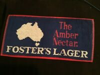 "FOSTER'S BEER Advertising BAR TOWEL 17"" by 8"" for HOME BAR"
