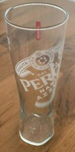 Peroni Beer Nastro Azzurro Signature Clear Etched 400ml Beer Glasses x2 MAN CAVE