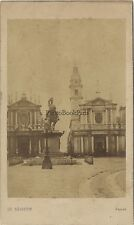 Torino Turin Place Saint Charles Italie Italia Cdv Vintage Albumine ca 1860