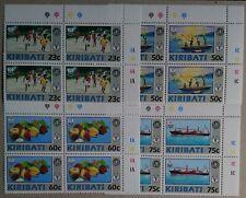 Kiribati 1992 UN World Health Food Agriculture Orgs Set Pl Blocks 4 From My Coln