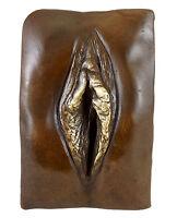 Erotisches Bronze Relief - Vagina / Vulva / Schamlippen/ Pussy - signiert M.Nick