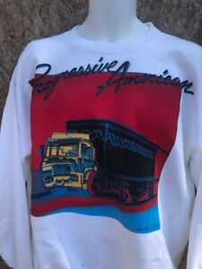 Andy Warhol print white pullover sweatshirt  MEN LG progressive American Rare