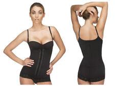Black Vedette 136 Megane Open Bust Bodysuit Lace Trim Waist Cincher Shapewear 34