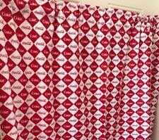 Coke Coca Cola Red And White Diamond  Curtain Valance