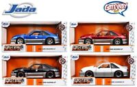 1/24 Jada 1989 Ford Mustang GT 5.0  FOX Body Diecast Model Car Set of 4 Colors