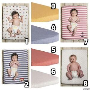 Baby Bites Organic Cotton Universal Changing Mat Cover Elasticated Washable New