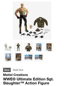 SDCC 2021 EXCLUSIVE MATTEL WWE ULTIMATE EDITION SGT. SLAUGHTER Confirmed Order