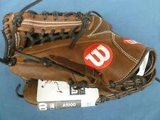 "Wilson A1000 KP92 12.5"" Baseball Glove, Brown, Left Handed Thrower"