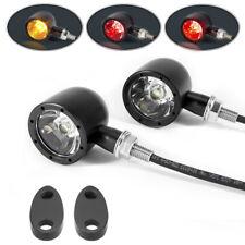 LED de luces de cola de Parada Moto integrado & indicadores negro con tapones de obturación