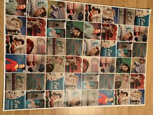 Vintage Gift Wrapping Paper Poster Quality Ladies Fashion 5 Sheets