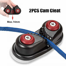 2PCS Cam Cleat Ball Bearing Fast Entry Cam Cleat for 10-14mm Line Sailboat Kayak