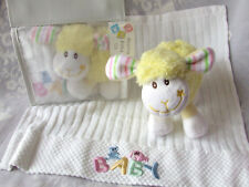 Terry Towel White Embroidered Baby Friends Face Washer & Toy Gift Set