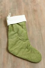 Pottery Barn Christmas Stocking / Green Velvet