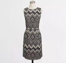 J. CREW, Sz 0 XS Diamond print basketweave dress, Sheath Pockets New