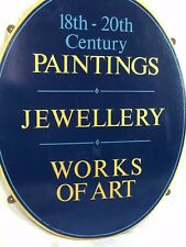 Antique Shop Business Sign 18th-20th Century Paintings Jewellery Works Of Art