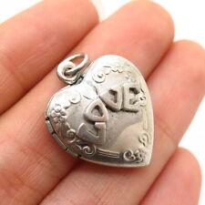 """925 Sterling Silver """"Love"""" Heart Locket Pendant"""