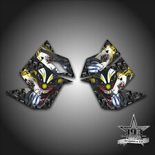 SKI DOO REV XP SNOWMOBILE SLED GRAPHICS DECAL SIDE PANEL EVIL JOKER YELLOW