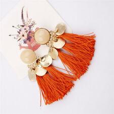 Orange Women Tassel Earrings Dangle Alloy Resin Bohemian Fashion Pendant HIGH