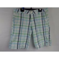 "O'Neill plaid boys casual 100% cotton 10"" shorts size 7"
