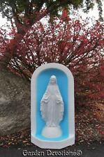 "Beautiful 25"" GREY TONE OUR LADY OF GRACE GROTTO Mary Shrine Garden Yard Statue"
